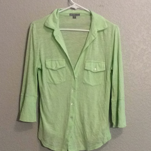 James Perse Tops - James Perse light green button down top